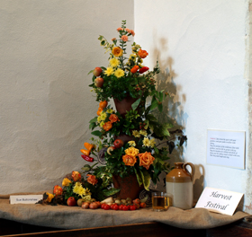 Harvest Festival Flower Display